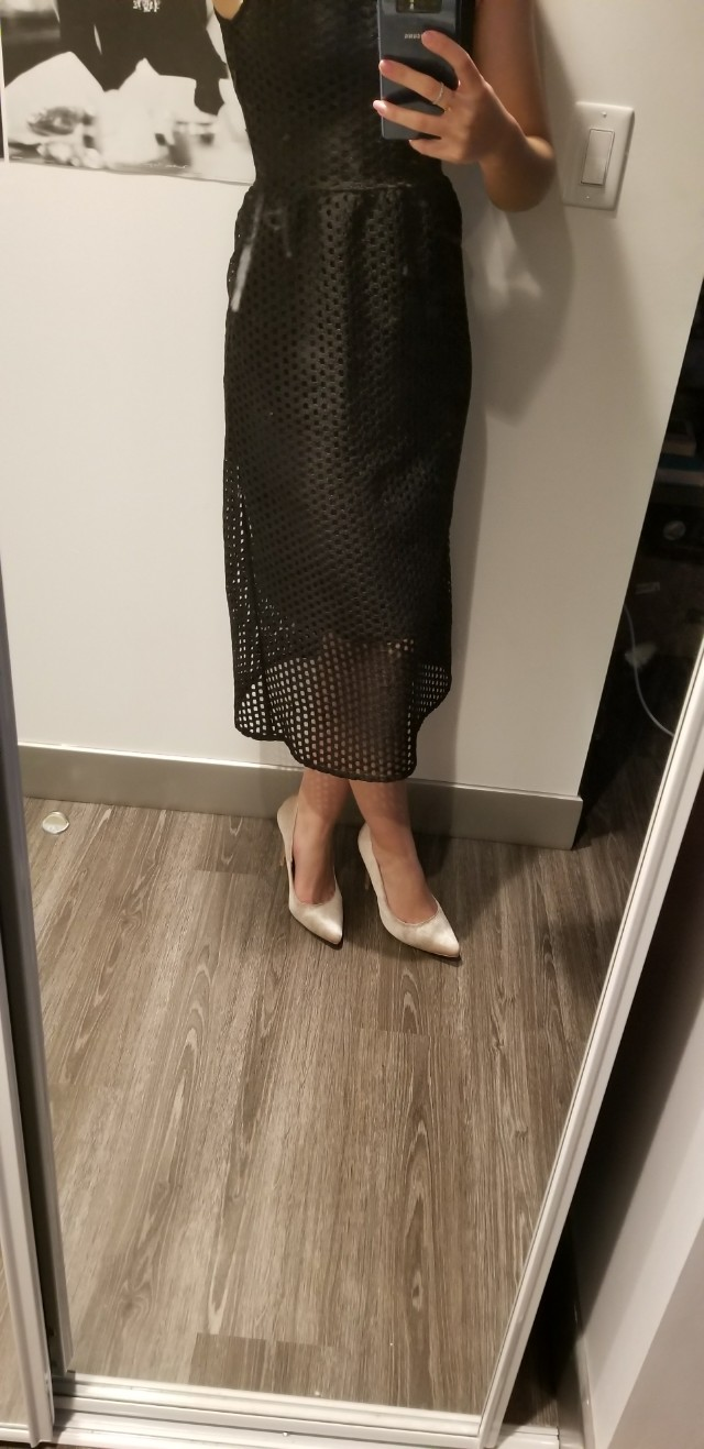 H&m black dress size 2