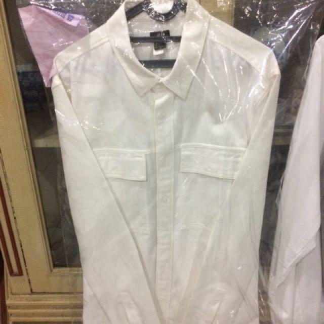 H&M denim shirt semi jacket