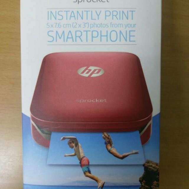 全新HP Sprocket 口袋相印機(紅)含2盒相紙