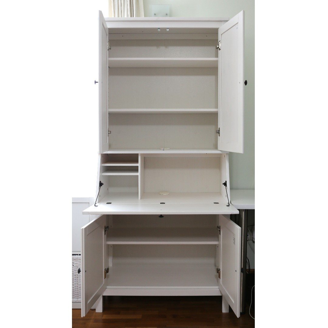Ikea Hemnes Secretary With Add On Unit White Stain Carou