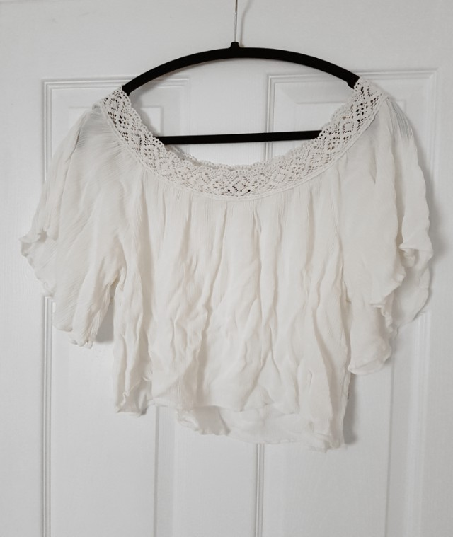 Ivory Flowy Crop Top