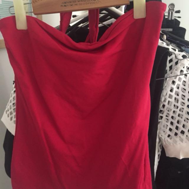 Kookai Kenna top in red