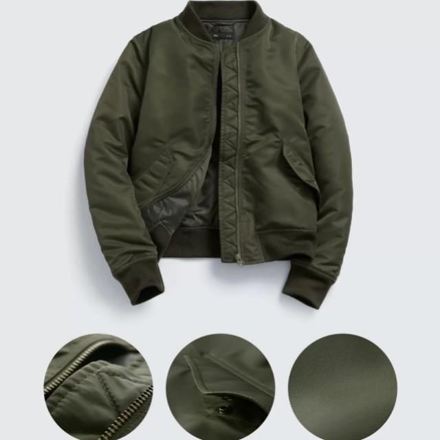 Lativ  飛行外套  軍綠色S(只穿一次)