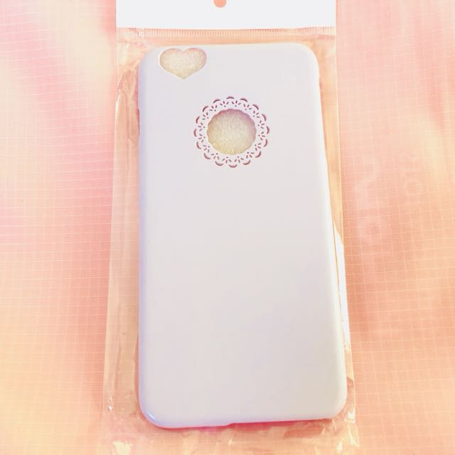 Lilac heart and floral iPhone 6/S PLUS phone case