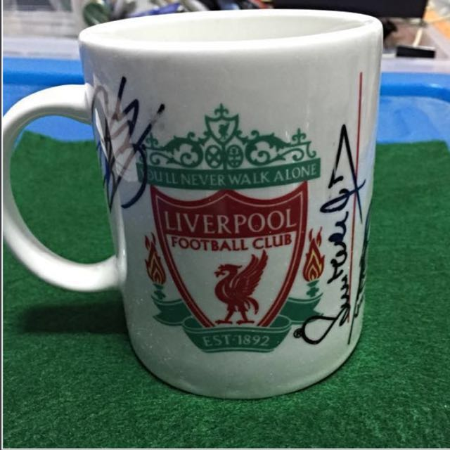 Liverpool signed mug at westin hotel meet greet sports others on photo photo m4hsunfo