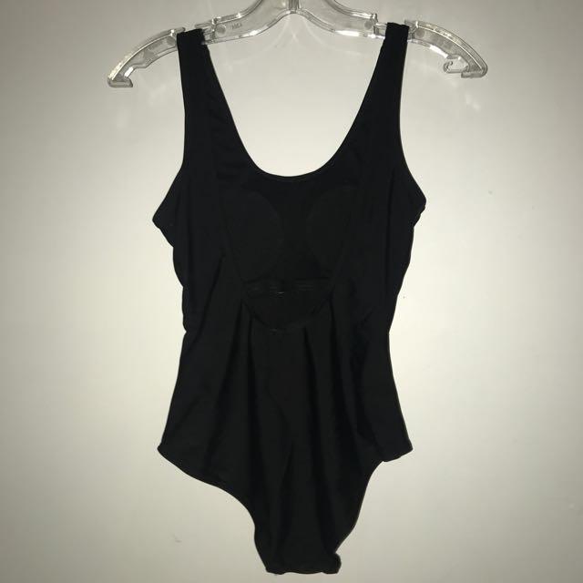 Low cut back one piece swimsuit XS-S