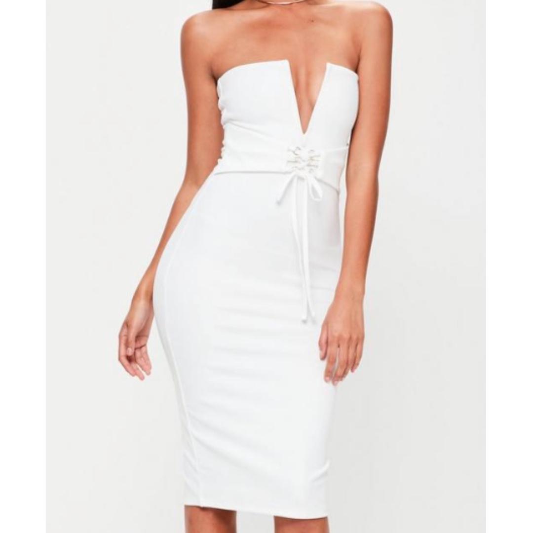 Missguided - Bandeau Corset Belt Dress