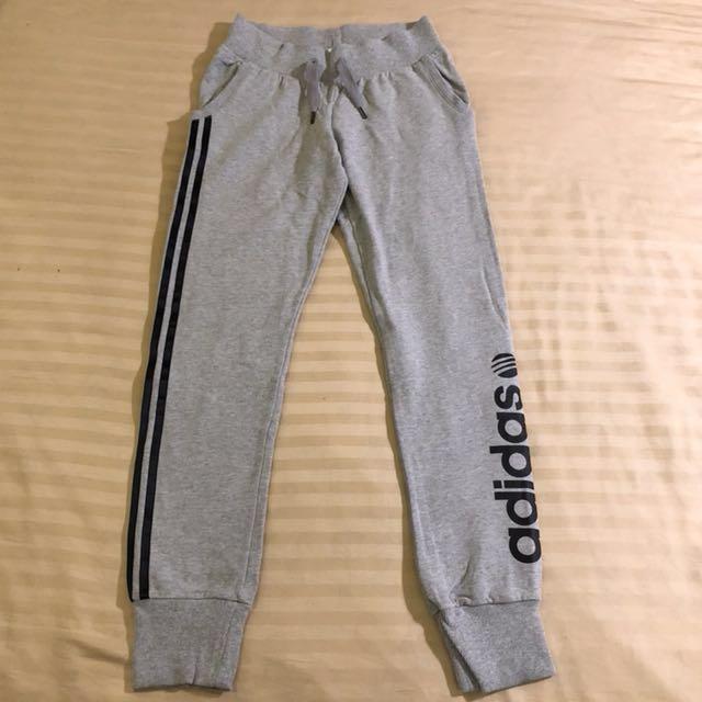 NEO Adidas刷毛顯瘦綿褲,運動長褲
