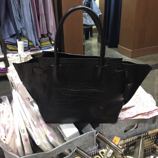 NEW Massimo Dutti Black Taupe Bag