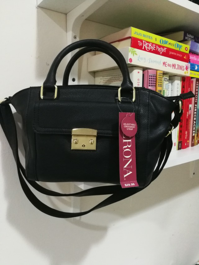 831ffa792631 New Merona Black Bag with adjustable crossbody strap (Imported from Target  USA)