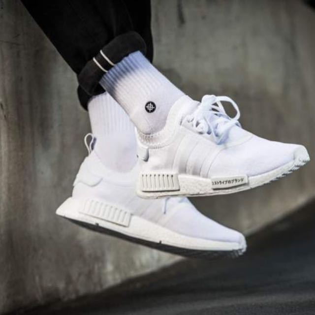 huge selection of cc60f e634d NMD Primeknit Japan All White US 9, Men's Fashion, Footwear ...