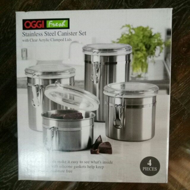 OGGI Fresh Stainless Cannister Set