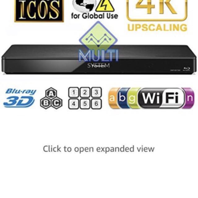 Panasonic 360 multi region bluray player, Electronics, Audio