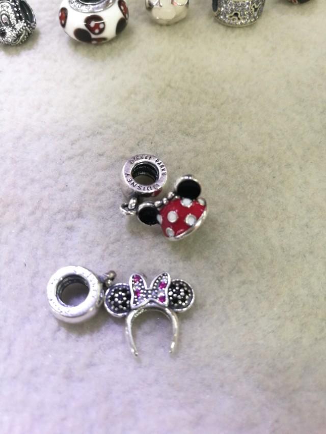 Pandora minnie and mickey headband charms