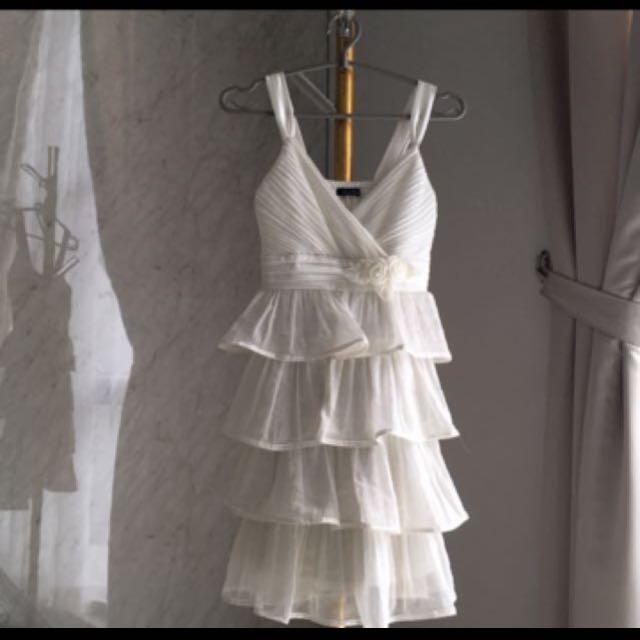 Party Minidress In White
