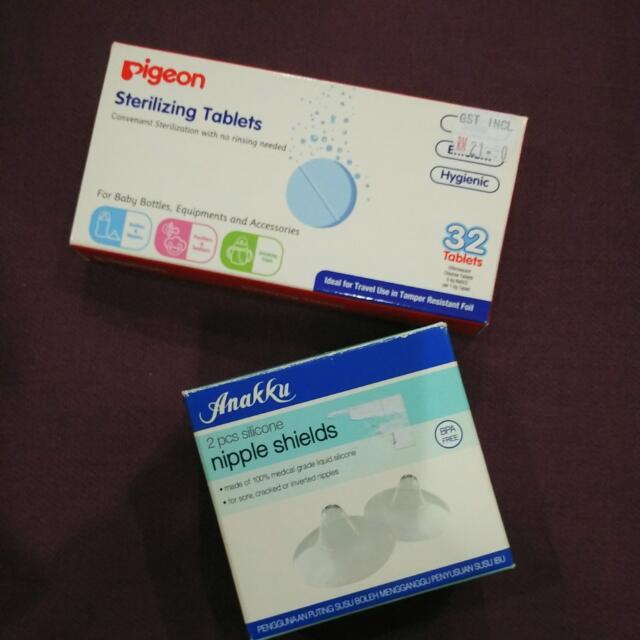 Pigeon Sterilizing Tablets & Nipple Shields RM20
