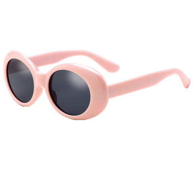 Pink retro oval sunglasses