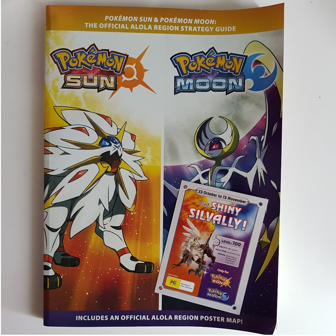 Pokemon Official Alola Region Sun & Moon Strategy Guide & Pokemon Darkrai Pin