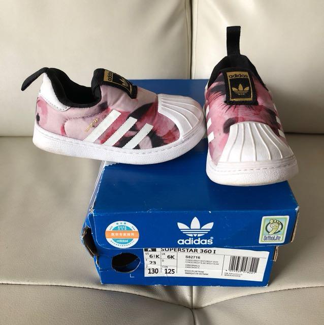 e802aee06cb Preloved Adidas Originals Superstar girl toddler shoes for sale ...