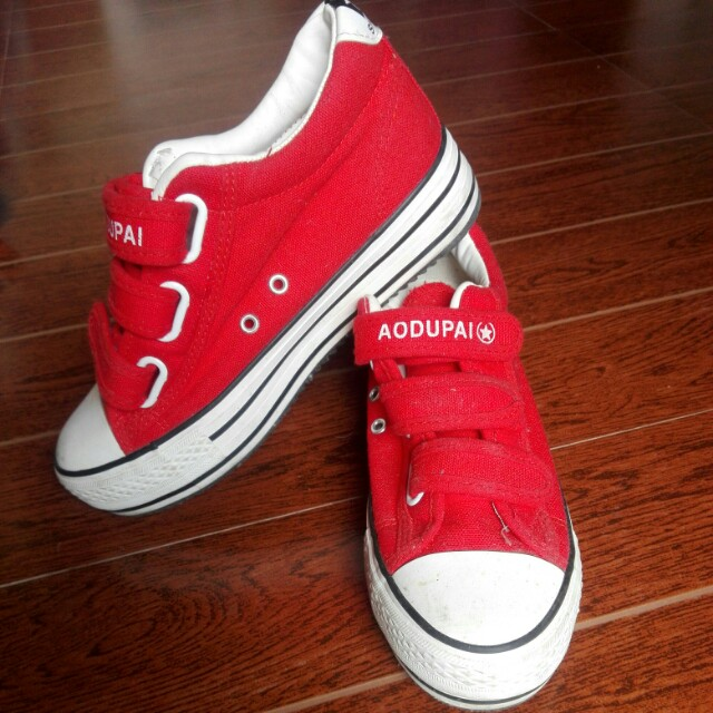 278850dad81 Preloved hidden heals wedge sneakers red women fashion shoes on carousell  jpg 640x640 Red wedge sneakers