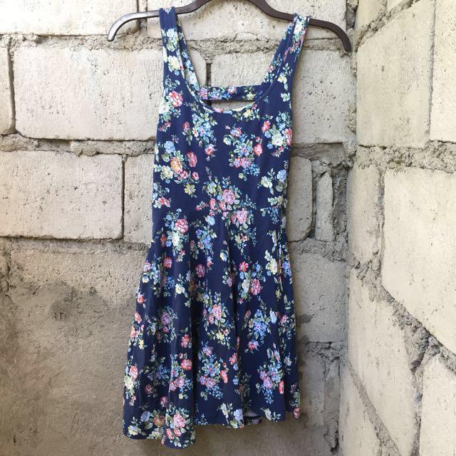 REPRICED! Blue Floral Dress