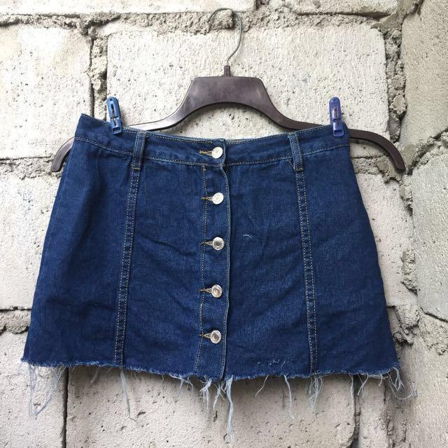 REPRICED! Mini Button Down Skirt