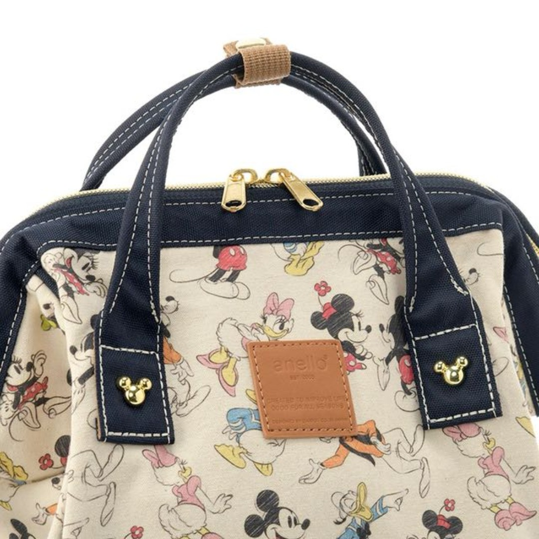 2b32f819b49  Re-Stock  Japan Anello Disney Mickey Mouse   Friends Sketch Backpack  Limited Collection ~ Original 100% Authentic ☆Small (Mini)