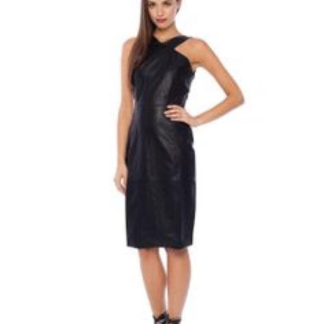 'Ruby Sees All' Black Leatherette Dress (Brand New, RRP $189.95)