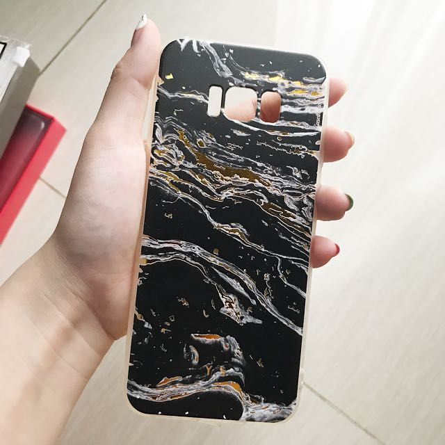 Samsung Edge 8+ Marble Gold Case
