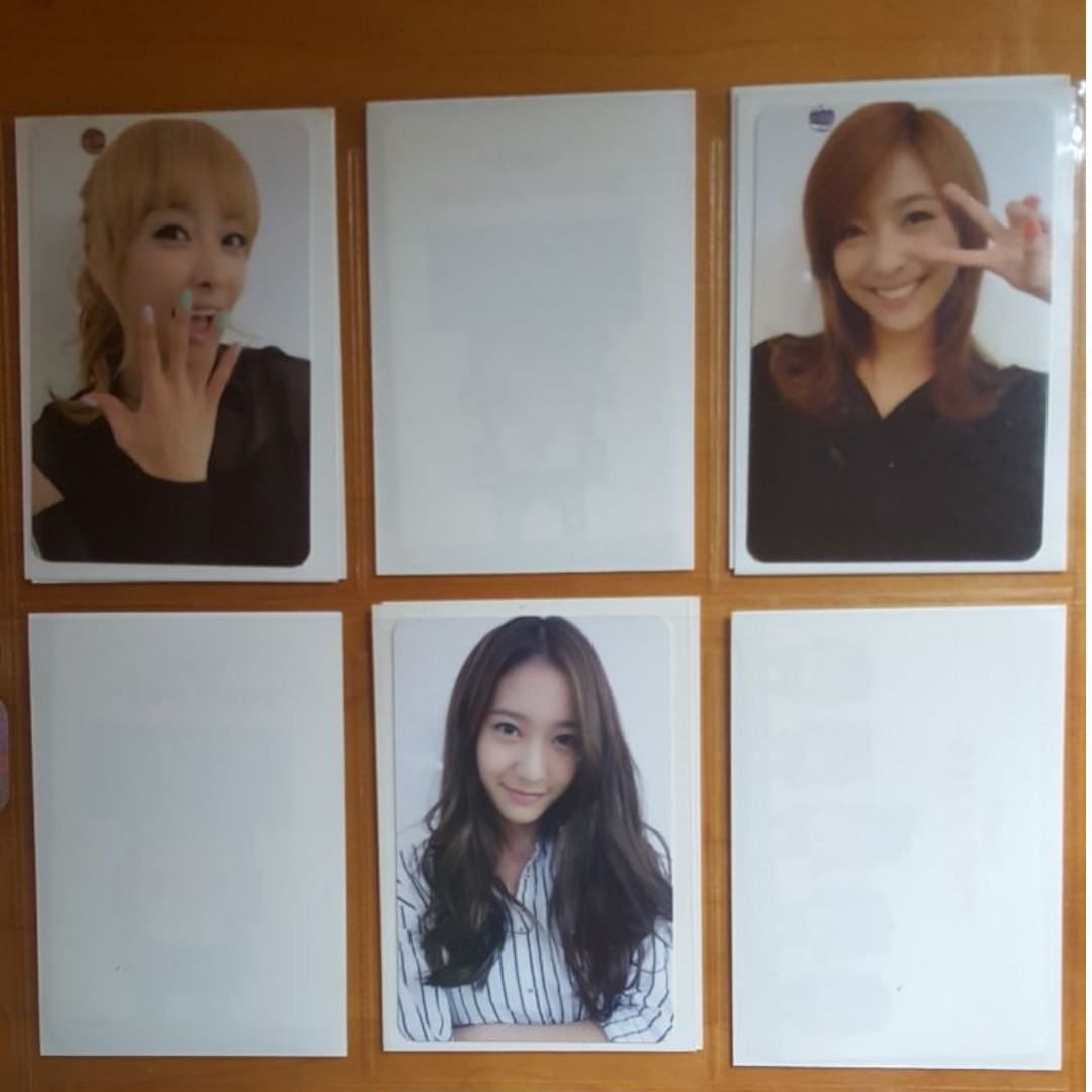 Selling F(x) Electric Shock Official Photo cards