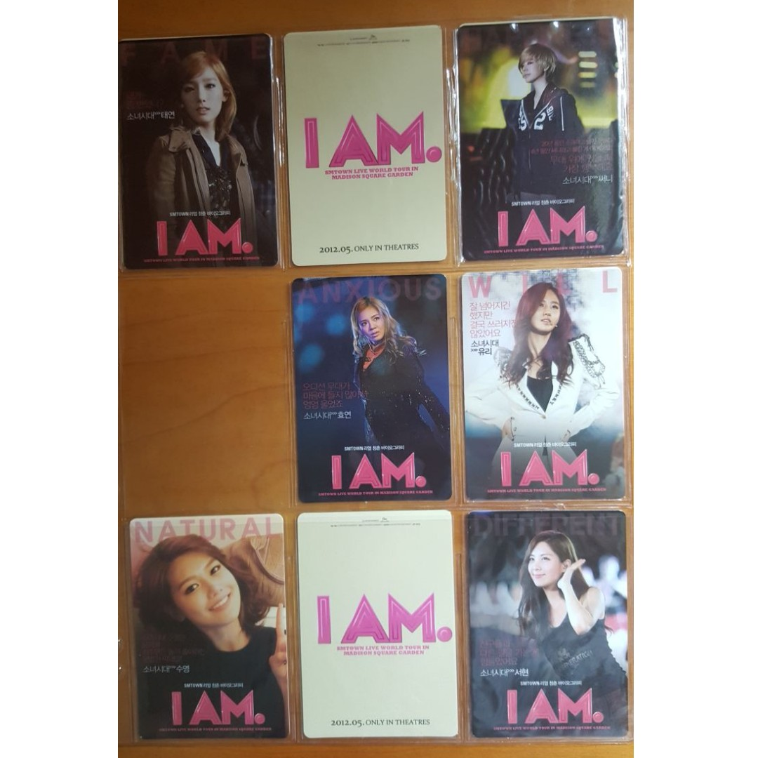 Selling SMTOWN I AM SNSD/Fx/Boa official photocards