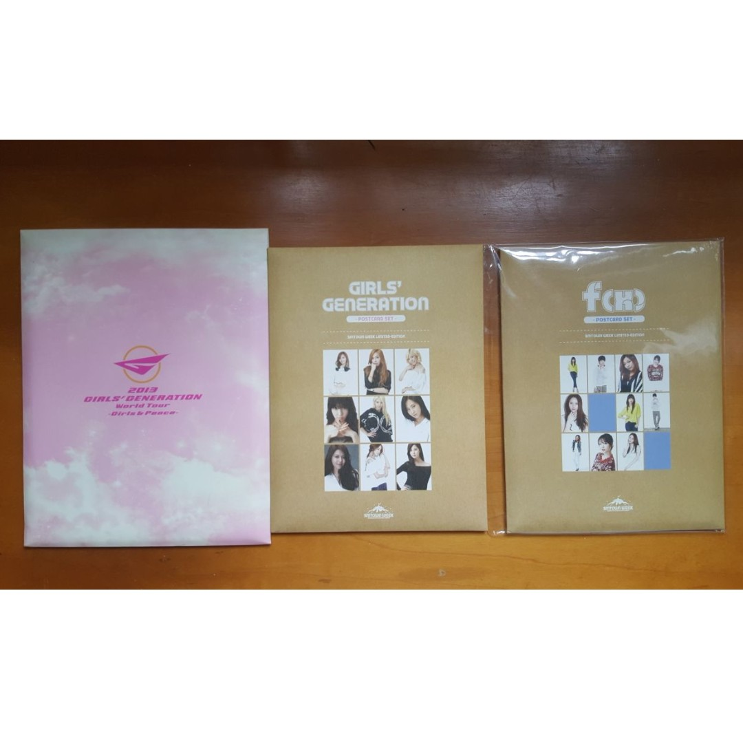Selling SNSD Girls Generation F(x) Official Postcards