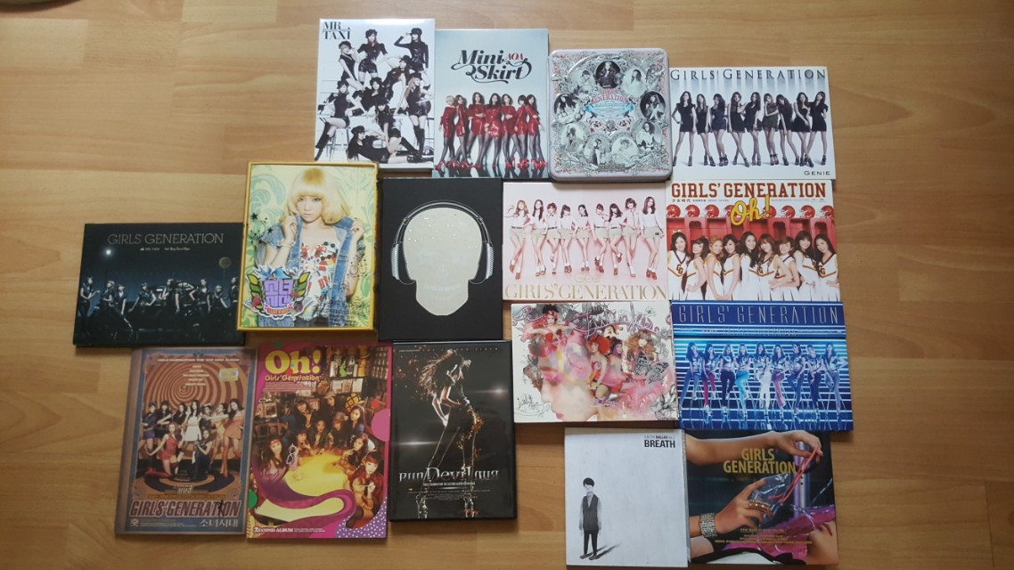 Selling various sealed and unsealed kpop albums (SNSD/AOA/BIGBANG)