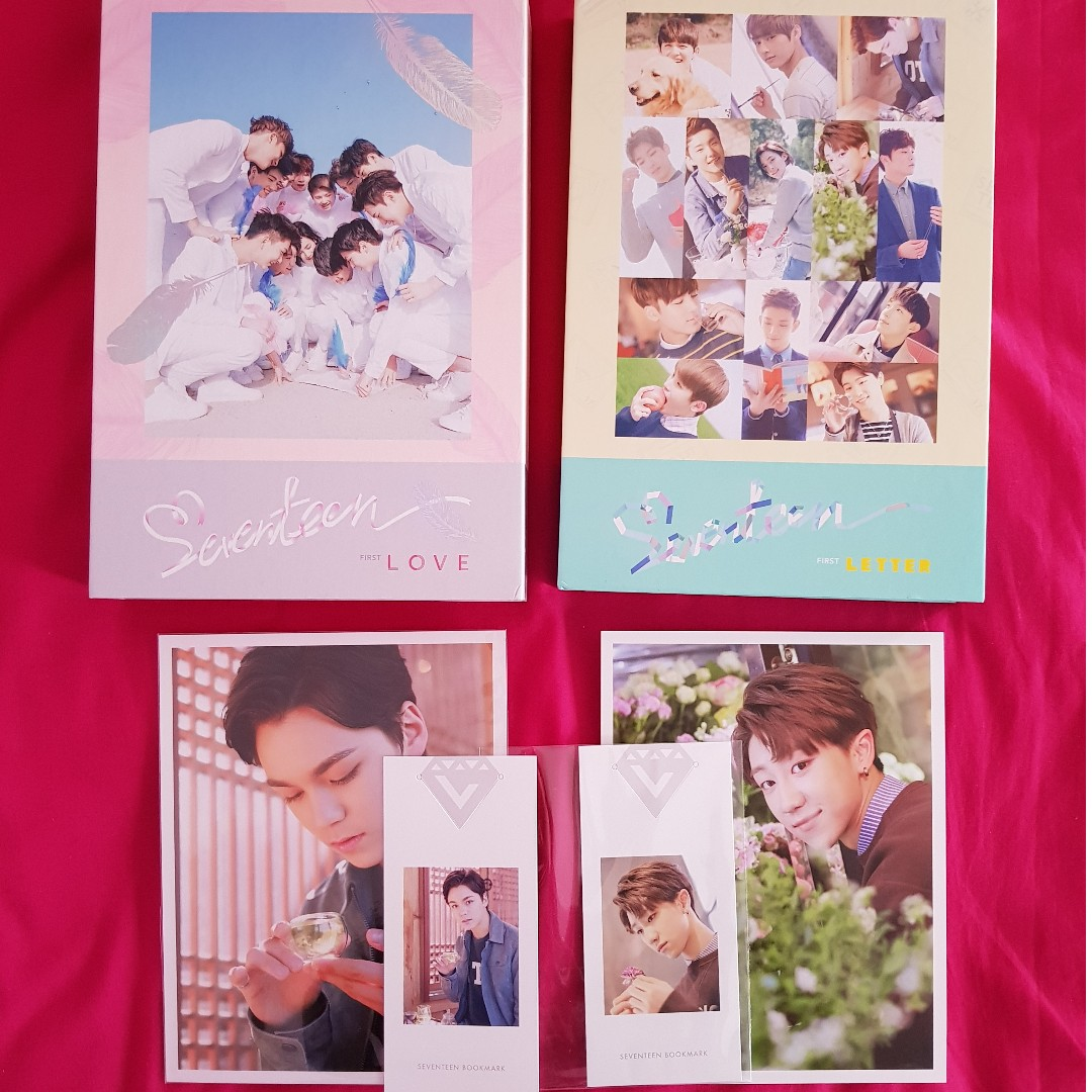 SEVENTEEN RARE Official First Love & First Letter Japan Press Limited Edition Album