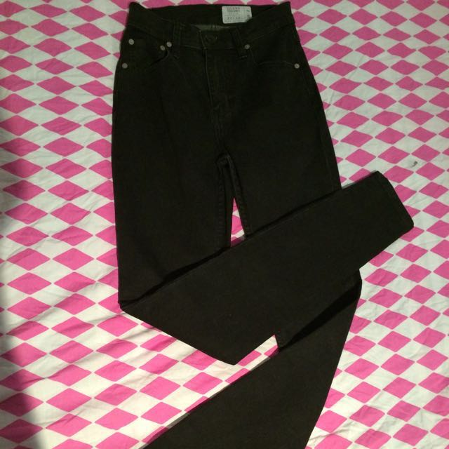 Silent Theory 'Bella' High Skinny Black Jeans Sz 8