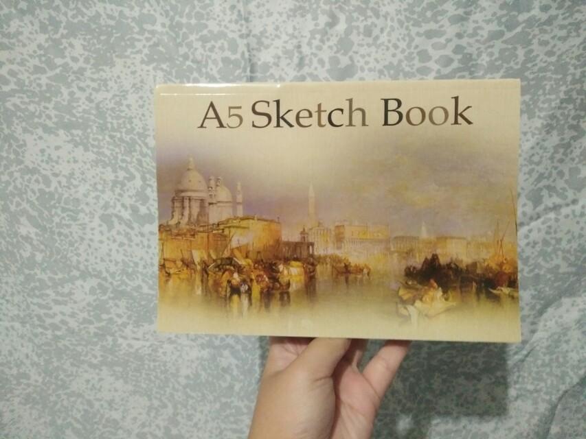 Sketch book A5 (stok banyak)