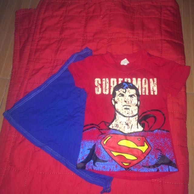 Superman shirt with detachable cape