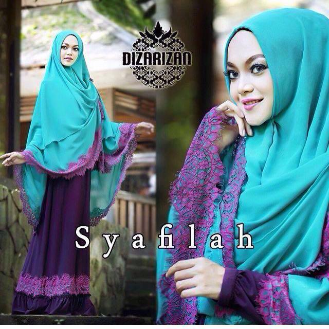 Syafilah (Dress & Khimar) by Dizarizan )ORI yaa bukan KW