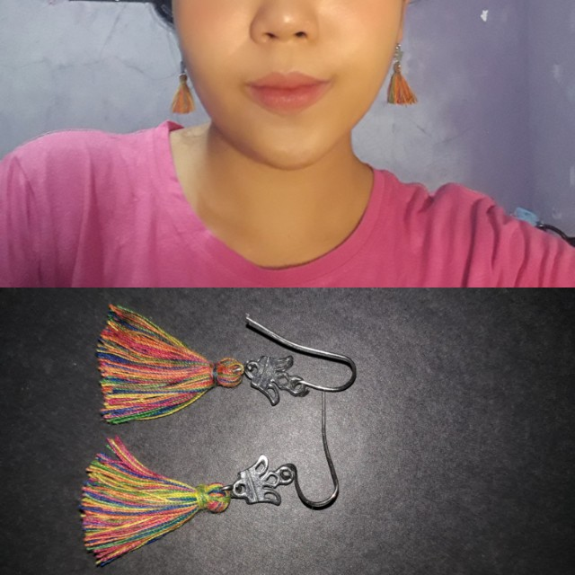 Tassel Earrings Rainbow