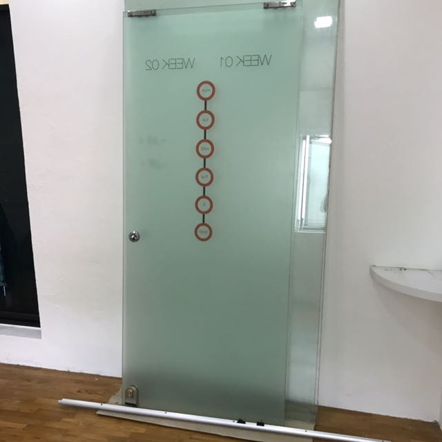 Tempered Glass Sliding Door Furniture Others On Carousell