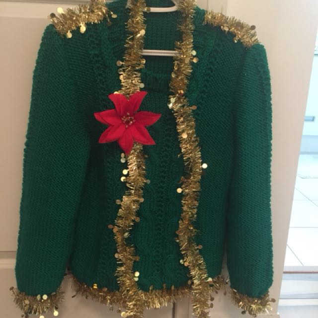 The cutest ugly Christmas sweater!!! Hand made!!!