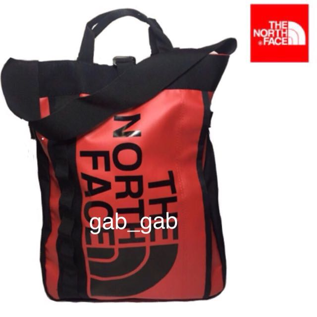 The North Face Fewsboxtort Fusebox Tote Bag | Sling | Backpack | 3-Ways | TNF Red