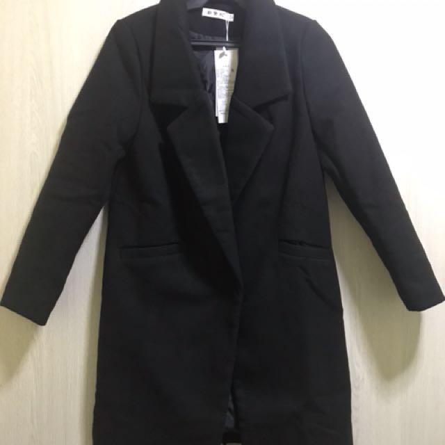 Thick Black Coat