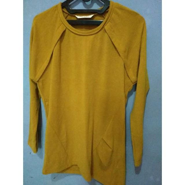 Top Sweater Lengan Panjang