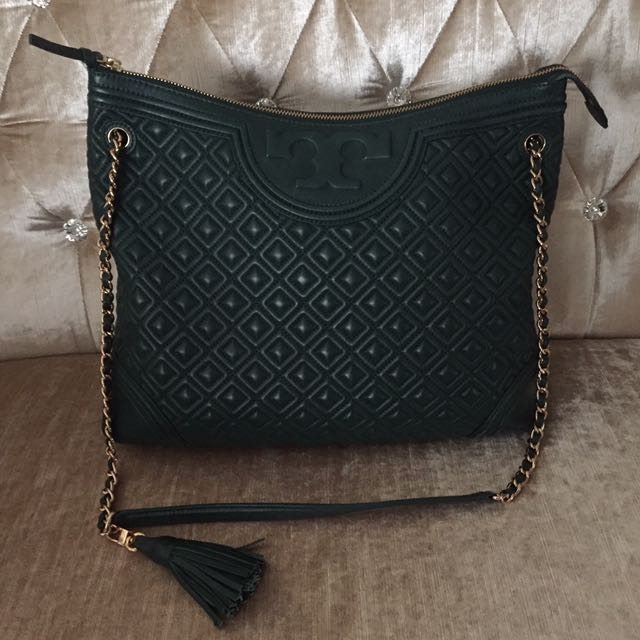 Tory Burch Quilted Leather Fleming Tote