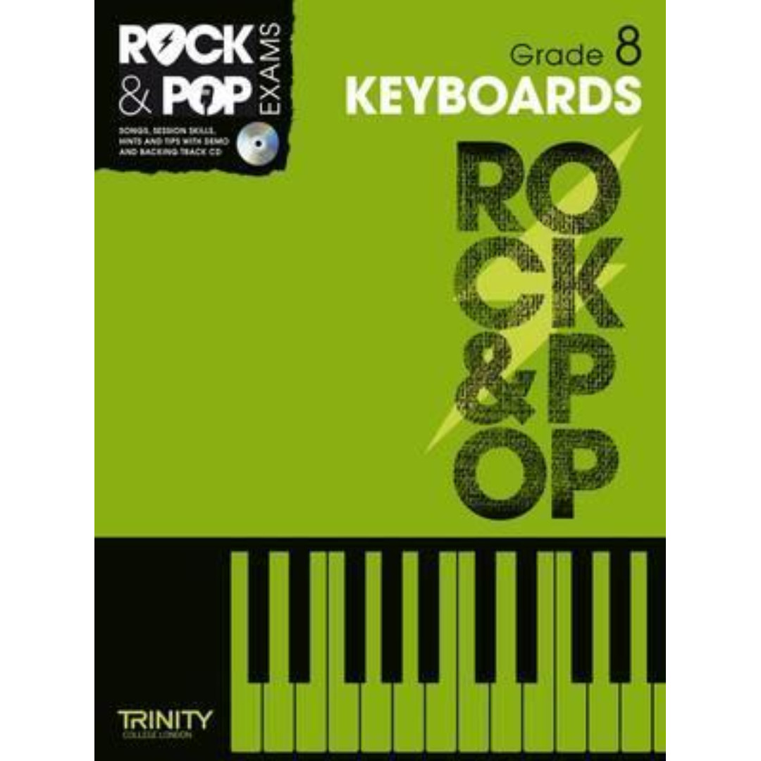Trinity Rock & Pop Keyboards Grade 8 Handbook with CD (in stock)