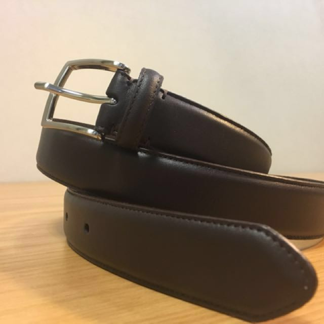 a8a281d4be07 Uniqlo s MEN Italian Leather Stitched Belt