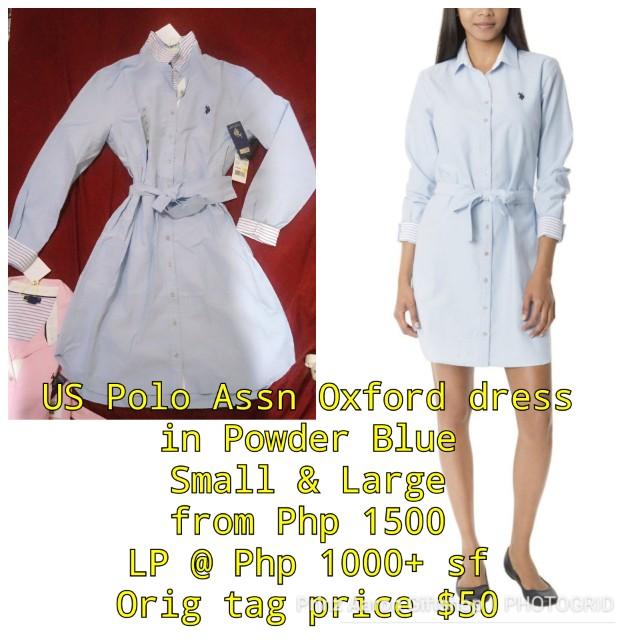 US Polo Assn Oxford Long Sleeve Dress