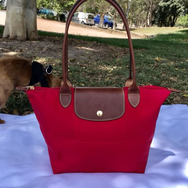 Used Authentic Longchamp Long Handle Small size