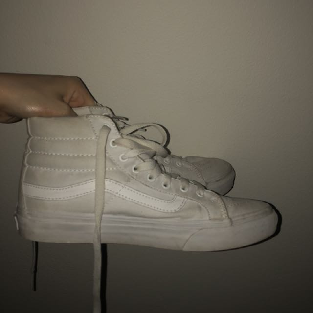 VANS OLD SKOOL WHITE HIGHTOPS
